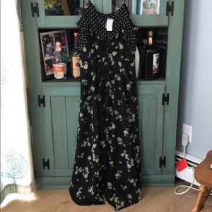 Maurice's XL NWT black floral dress